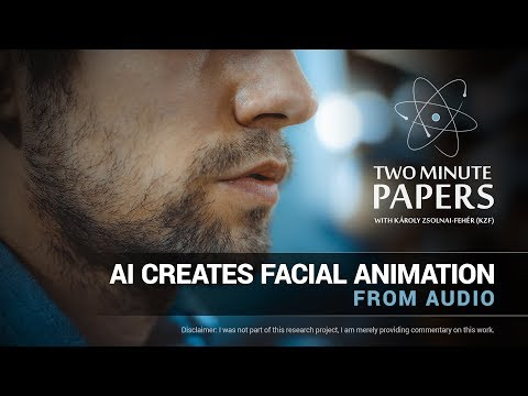 AI Creates Facial Animation From Audio