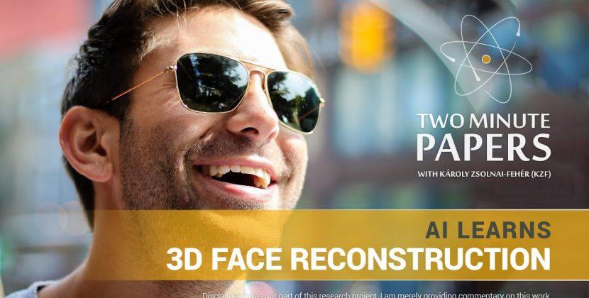 AI Learns 3D Face Reconstruction