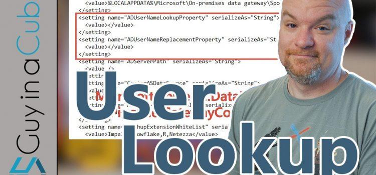 Power BI User Lookup via Gateway Using Active Directory