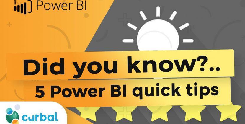 5 PowerBI Tips