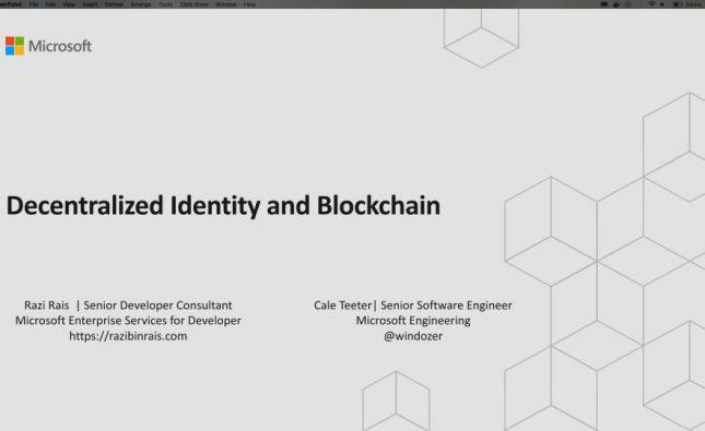 Decentralized Identity and Blockchain
