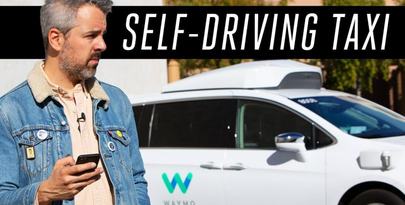 Riding in a Self-Driving Taxi