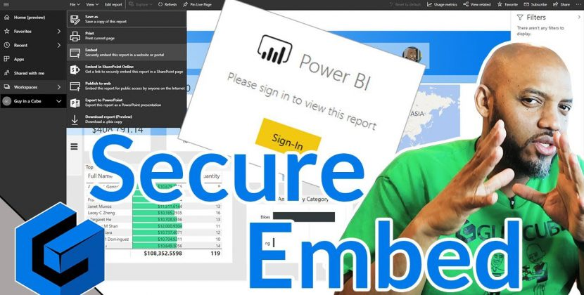 Power BI Secure Embed