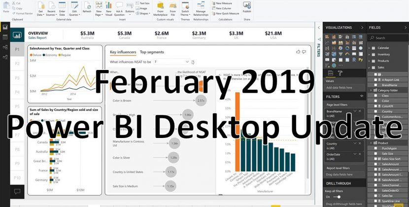PowerBI Desktop Updates for February 2019