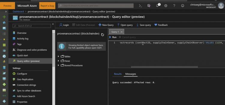 Using Ethereum Logic Apps to Monitor SQL Server Databases