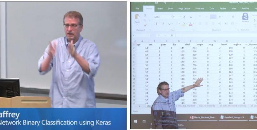 I Give a Talk on Binary Classification Using Keras