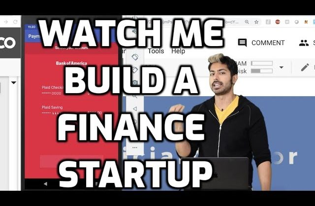 Watch Siaj Raval Build an AI Powered FinTech Startup