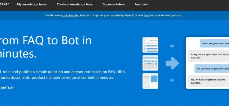 Create a Bot in Minutes with the QnA Maker Cognitive Service