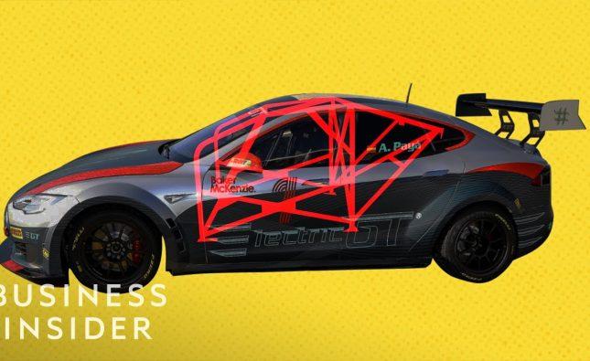 Inside The First-Ever Tesla Race Car