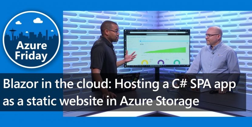 Hosting a C# SPA App as a Static Website in Azure Storage
