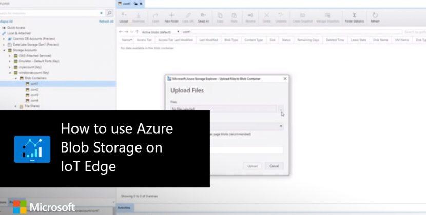 How to use Azure Blob Storage on IoT Edge