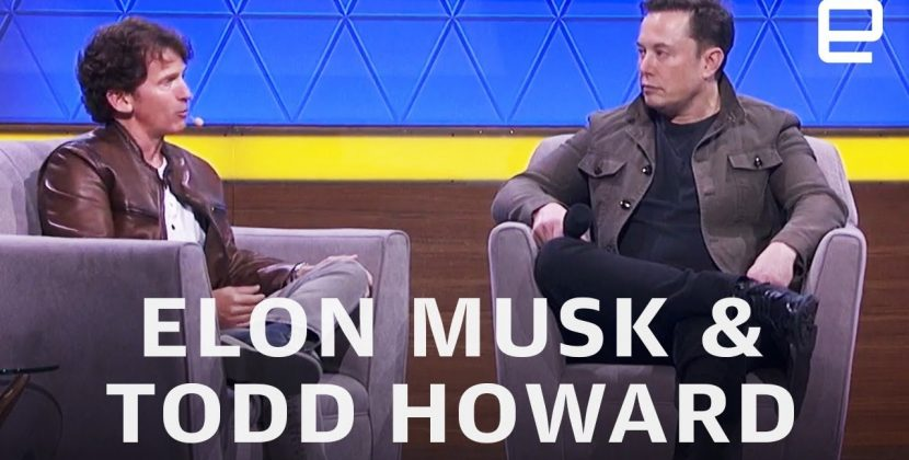 Elon Musk and Bethesda's Todd Howard at E3 2019