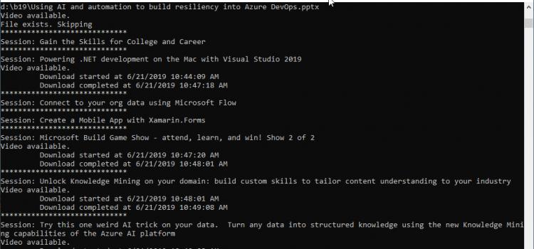Build 2019 Session Downloader
