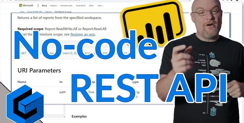 Power BI REST API No-Code Options