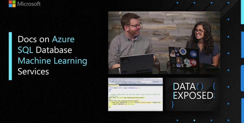 Docs on Azure SQL Database Machine Learning Services