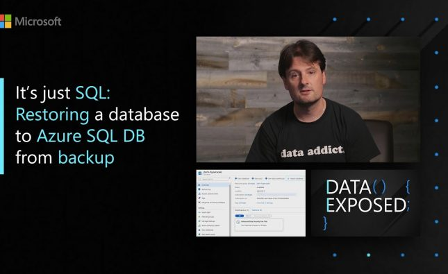 Restoring a Database to Azure SQL DB from Backup