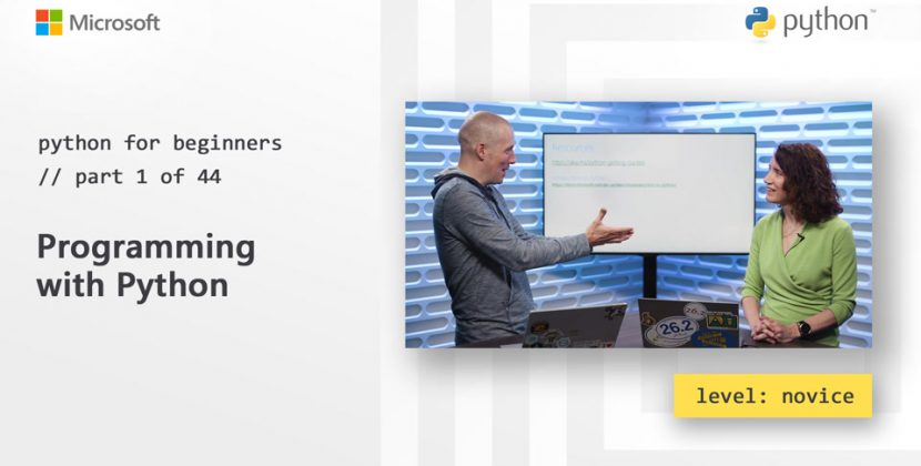 Python for Beginners 44 Part Series