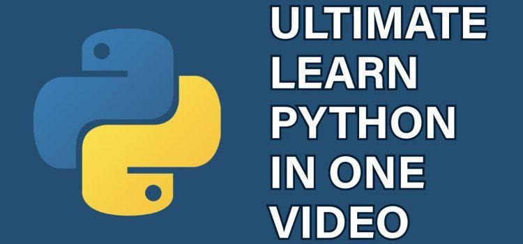Ultimate Python Tutorial Video