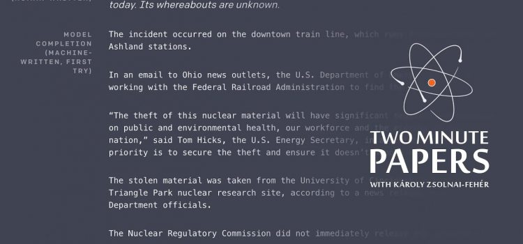 OpenAI's GPT-2 Text Generator