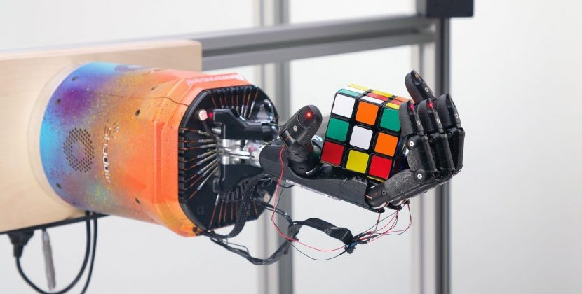 Solving Rubik's Cube with a Robot Hand