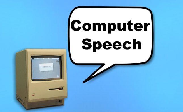The Evolution of Computer Speech