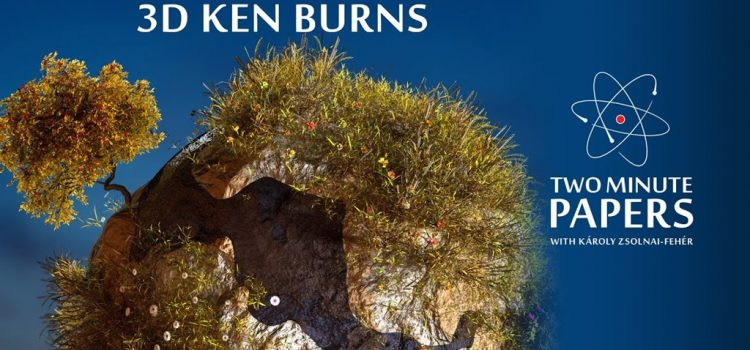 Ken Burns Effect in 3D from a Single Image