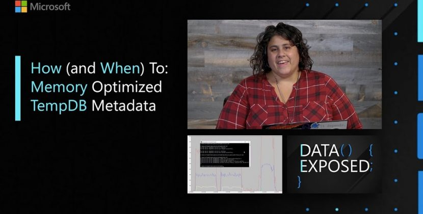 Memory Optimized TempDB Metadata