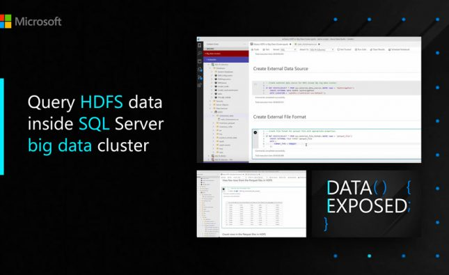 Query HDFS Data Inside SQL Server Big Data Cluster