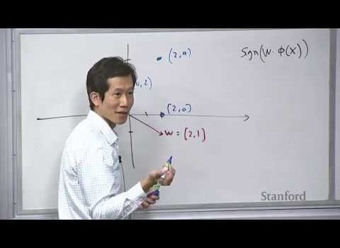 Stanford Machine Learning Lecture on Linear Classifiers and SGD