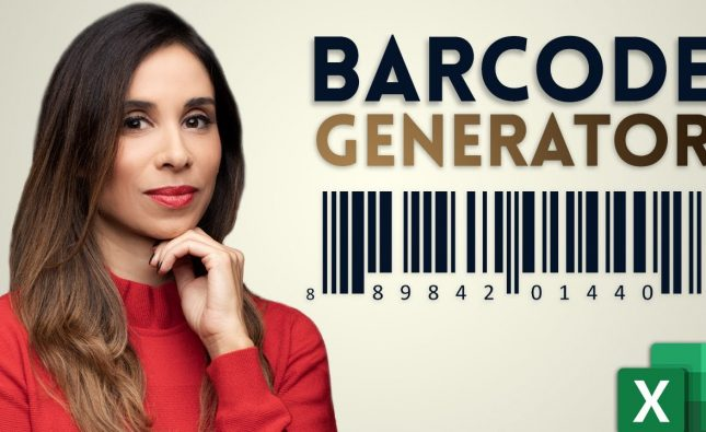 How to Create Barcodes in Excel