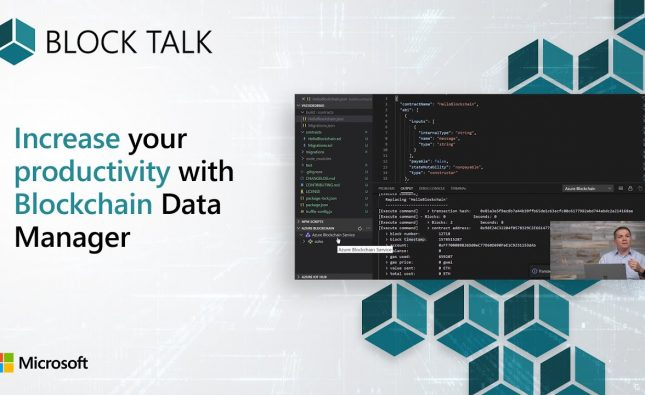 Increase Productivity with Blockchain Data Manager