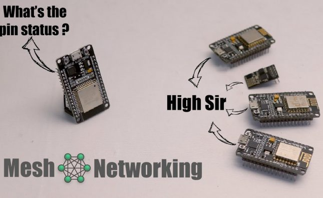Mesh Networking demo on ESP8266 & ESP32