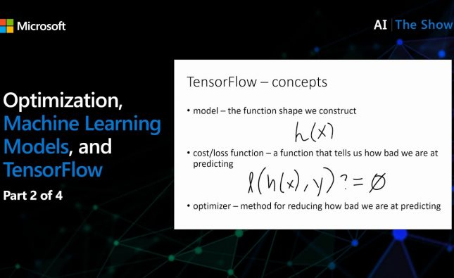Optimization, Machine Learning Models, and TensorFlow