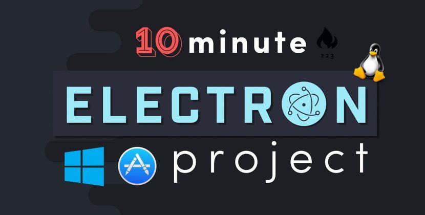 Build a Desktop App with Electron