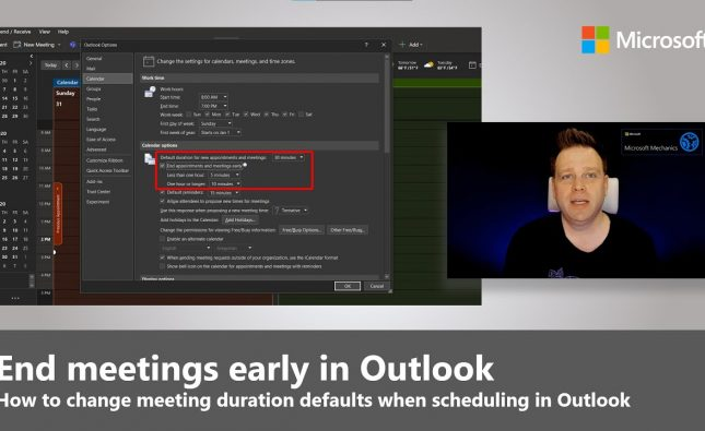 How to Change Default Meeting Durations in Outlook