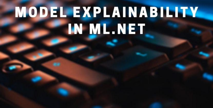 Explainability of ML.NET Regression Models