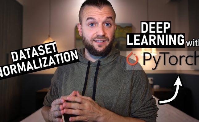 PyTorch Dataset Normalization