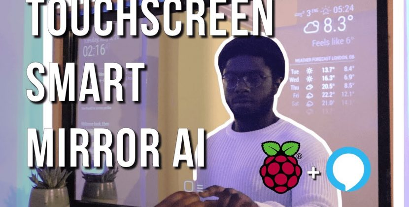 Smart Mirror Touchscreen with Facial Recognition using Raspberry Pi 4