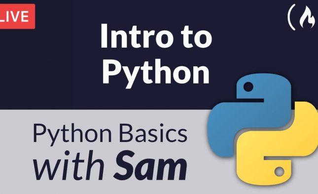 Intro to Python Livestream
