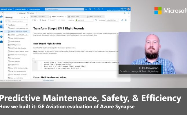 Azure Synapse, Predictive Maintenance, Safety, and Efficiency at GE Aviation