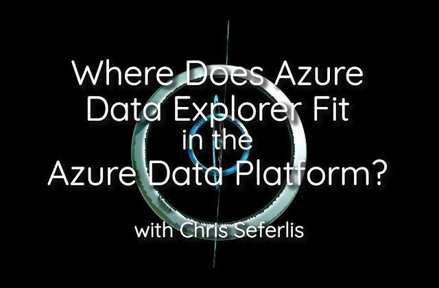Where does Azure Data Explorer fit in the Azure Data Platform?