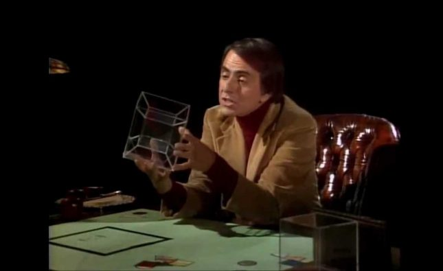Carl Sagan Explains the 4th Dimension