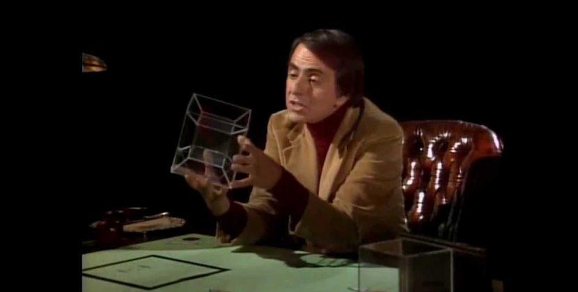 Carl Sagan Explains the 4th Dimension