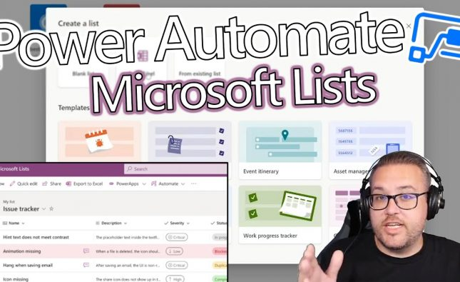 Microsoft Lists and Power Automate