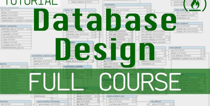 Database Design Course for Beginners