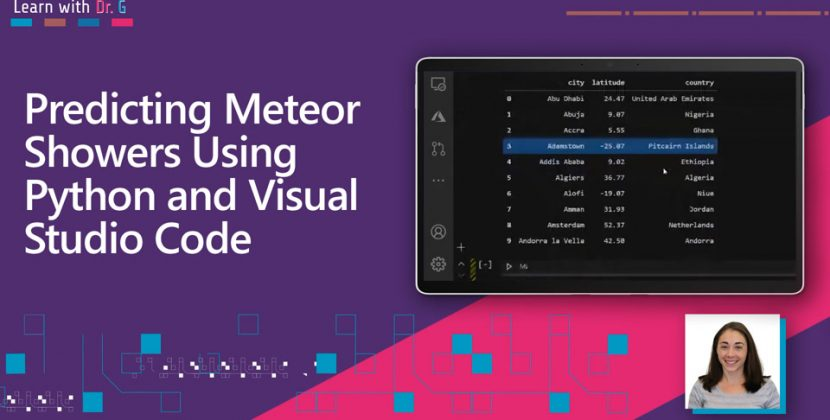 Predicting Meteor Showers Using Python and Visual Studio Code