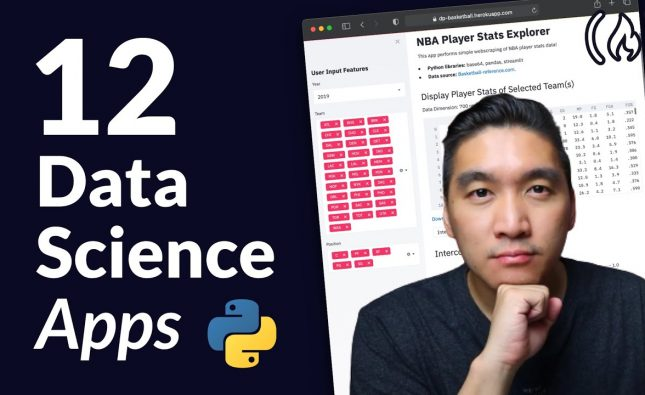 Build 12 Data Science Apps with Python and Streamlit