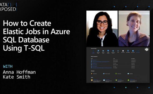How to Create Elastic Jobs in Azure SQL Database Using T-SQL